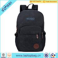 Hot Sales Fashional Hiking Backpack Custom Backpack Black Canvas Backpack Bag