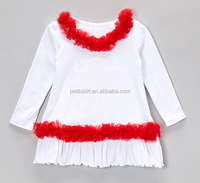 Childrens clothes 2015 tops and blouses Christmas blouses girls tutu top crochet