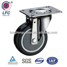 75mm,100mm,125mm Hot sale Medium duty Top plate Swivel PU Medical wheel