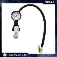 tire inflator with gauge/tire pressure gauge/portable car tire inflator pump