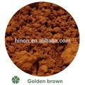 Couleur brun doré bleuissement./poudre minérale tache de couleur