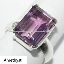 amatista anillo de plata piedras preciosas de plata 925 joyeria anillos