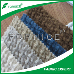 verified factory super soft fabric 100%polyester bonded weft knitted velvet for sofa Spain market