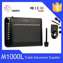 Ugee M1000L Graphics Tablet Pro Pen and Touch Medium Tablet