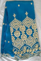 hot sale african george lace fabric for wedding dress