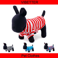 006 Wholesale 4 colors classic stripe dog clothes, fashional dogs T-Shirts