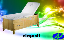 high-quality luxury wooden bed / wooden spa massage table / comfortable wooden facial bed