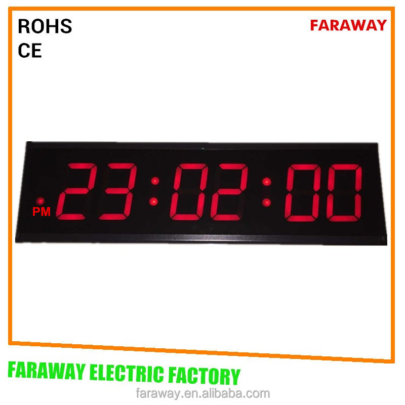 5 extra large led wall clock with remote large led digital clock large led clock with seconds - Extra large digital wall clock ...