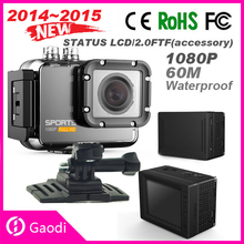 Hot Sale!! 60M Waterproof 2.0'' Inch Action Full HD 1080p Sports Camera With Wifi