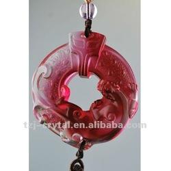 Wholesale Car Pendant/ Crystal Liuli Mascot Pendant Car Used Adorn Article