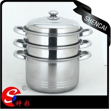 3 layers stainless steel steamer pot / 26cm pot and steamer 2 in 1