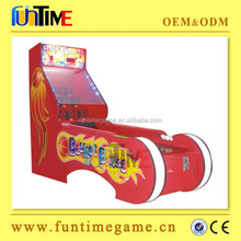 Baseketball bowling Coin operated mini kids bowling game machine for amusement center