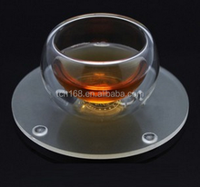 clear acrylic glass drink coaster /mat/pad