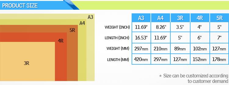 Preço de fábrica Auto Capina A4 Papel de Transferência de Calor Papel De Sublimação para o Algodão
