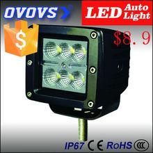 OVOVS China brightness 12v square 18w led work light for atv, truck