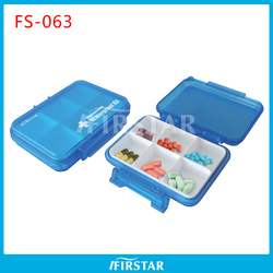 OEM useful medicine round pillbox case