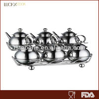 3pcs stainless steel container with lid