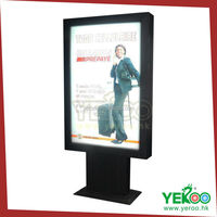 Rectangular aluminum advertising free standing scrolling light box