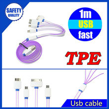 Universal 1Meter multi usb cable 4 in 1 USB charging cable