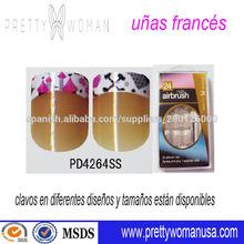china artificial proveedor clavo francés diseños de uñas punta de color
