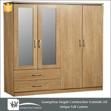 Best sellers bedroom wardrobes wooden with double mirror