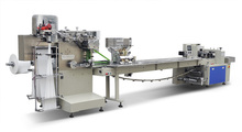 Hot Sale Wet tissue Packing Machine / Touch Screen / Stainless Steel Cover