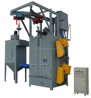 Double hook shot blasting surface cleaning machinery