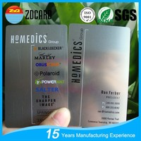 Free sample factory supplier embossed metal business cards with high quality