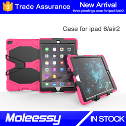 Newest designs shockproof universal cute little bush silicon case for iPad air 2