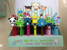 custom 3D cartoon character rubber ball pen