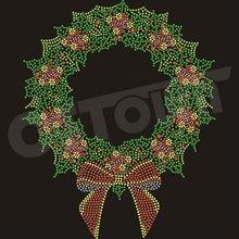 2012 Newest Christmas Design Iron On Rhinestone Transfer