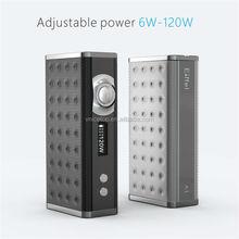 Newest design wireless charging VW mod adjustable wattage 120w eiffel A1 box mod vaporizers wholesale