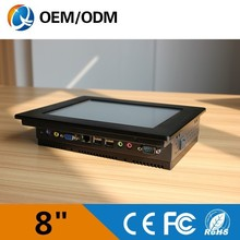 LOW COST 8'' embeded ip65 panel mount touch screen panel pc/industrial computer