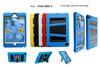 PC silicon V kickstand combo case cover for ipad 4 mini