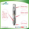 2015 USA Hot Wickless 0.5ml, 1.0ml mental mouthpiece Glass Cartridge Thick CBD 510 Oil vaporizer cartridge empty