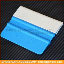 pp blue car squeegee vinyl with felt for vinyle wrap tools
