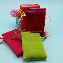 various colors cheap velvet bags and pouches with drawstring