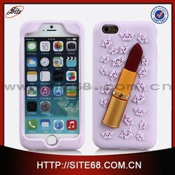 2015brand new lipstick silicone cell phone case for iphone 6g