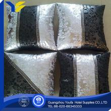 綿100%寝具中国卸売かぎ針編みの花刺繍入りクッションを編んだ