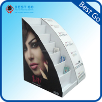 shop retail table top cosmetic retail cardboard counter display/ small display stands paper/ cosmetic cardboard display