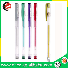 Cheap Promotional Yellow Gel Pen with Highlight Color Ink