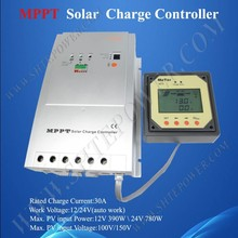 solar charger controller 30a 12V/24V Automatic voltage MPPT Solar Charge Controller, solar charge controller with timer