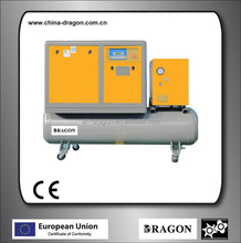 22kw GHH air end screw portable compressors with tank and dryer