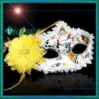PVC-058 Yiwu Caddy Hot sell princess masquerade handmade cheap feather masquerade masks buy cheap, party pvc mask