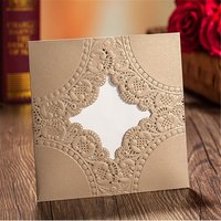 wholesale blank hot sale die cut greeting three fold wedding cards printing