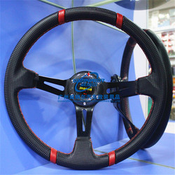 MOMO Universal 14 Inch Drifting OEM Racing Carbon Fiber Steering Wheel