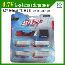 U818A V959/V929 RC helicopter HJ-814 Discharge 25C rechargeable Li-polymer 3.7v 600mah battery