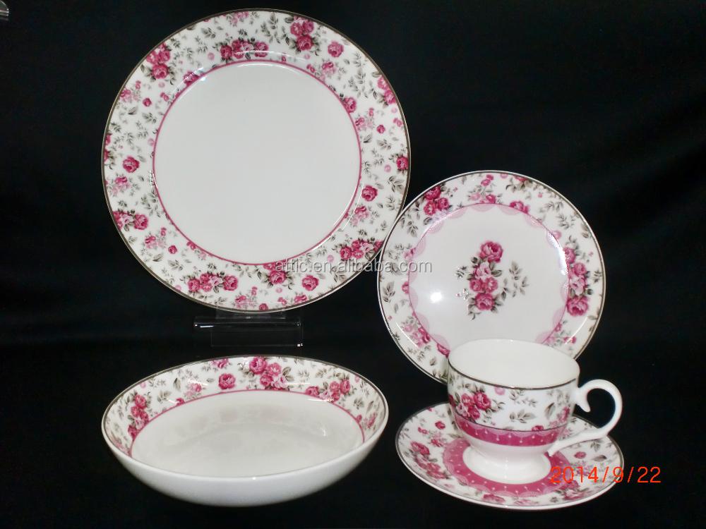 24pcs turkish dinnerware set modern luxury bone china porcelain dinnerware set with flower of. Black Bedroom Furniture Sets. Home Design Ideas