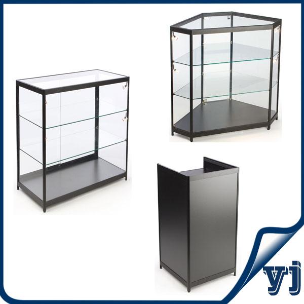 Glass Display Showcasefreestanding Aluminum Tower Glass Door