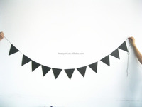2015 Latest design can be writing pure black paper garland party decorations